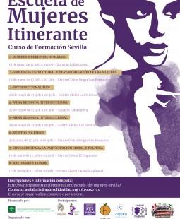Cartel_escuela mujeres itinerante_sevilla